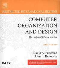 Computer Organization and Design: The Hardware/Software Interface, 3/e(IE) (美國版ISBN:1558606041)-cover
