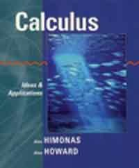 Calculus: Ideas and Applications (美國版0471401455)
