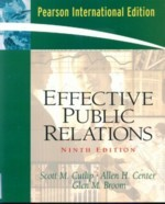 Effective Public Relations, 9/e-cover