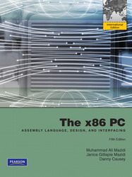 The x86 PC: Assembly Language, Design, and Interfacing, 5/e (IE-Paperback)-cover