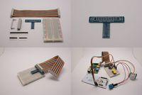GPIO 轉接板套件(含GPIO排線 + 麵包板 + 轉接板)(未銲)(Model B 一代板適用)-cover