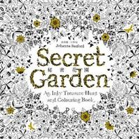 秘密花園(Secret Garden: An Inky Treasure Hunt and Colouring Book)-cover