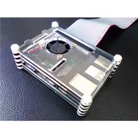 Raspberry Pi B+/2B 帶風扇之壓克力保護殼-cover