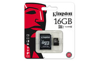 Kingston MicroSD卡 C10 16GB-cover